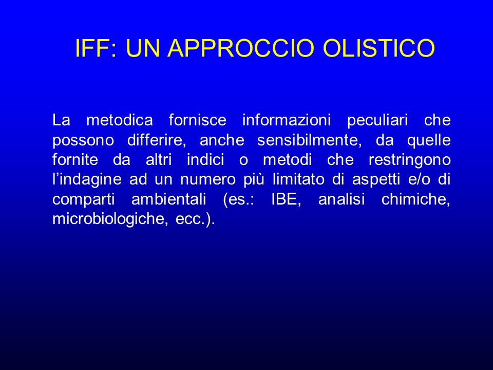 IFF: UN APPROCCIO OLISTICO