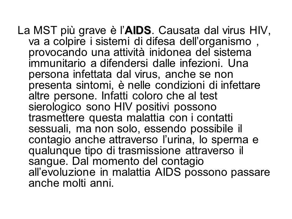La MST più grave è l'AIDS