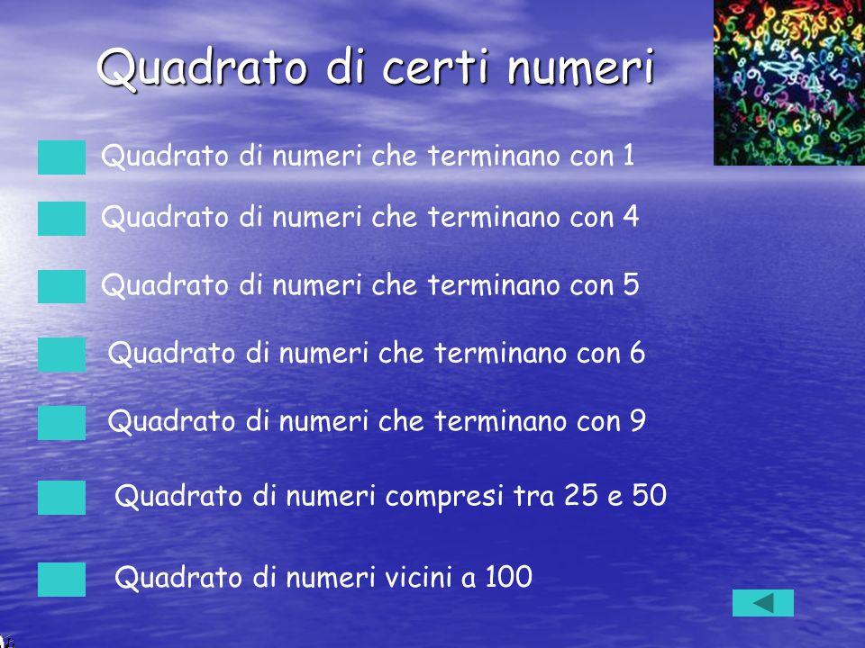 Quadrato di certi numeri