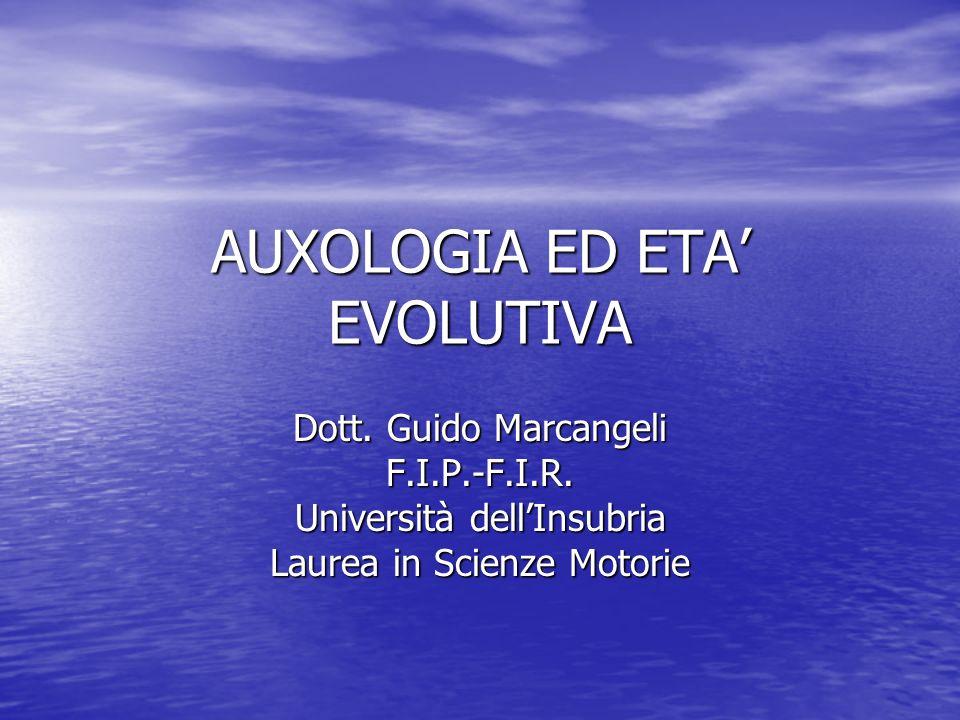 AUXOLOGIA ED ETA' EVOLUTIVA