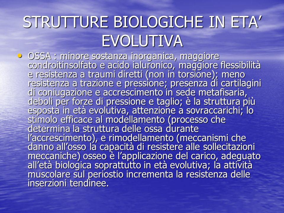 STRUTTURE BIOLOGICHE IN ETA' EVOLUTIVA