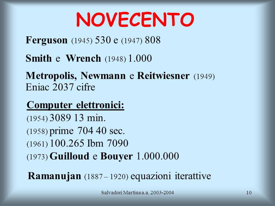 NOVECENTO Ferguson (1945) 530 e (1947) 808 Smith e Wrench (1948) 1.000