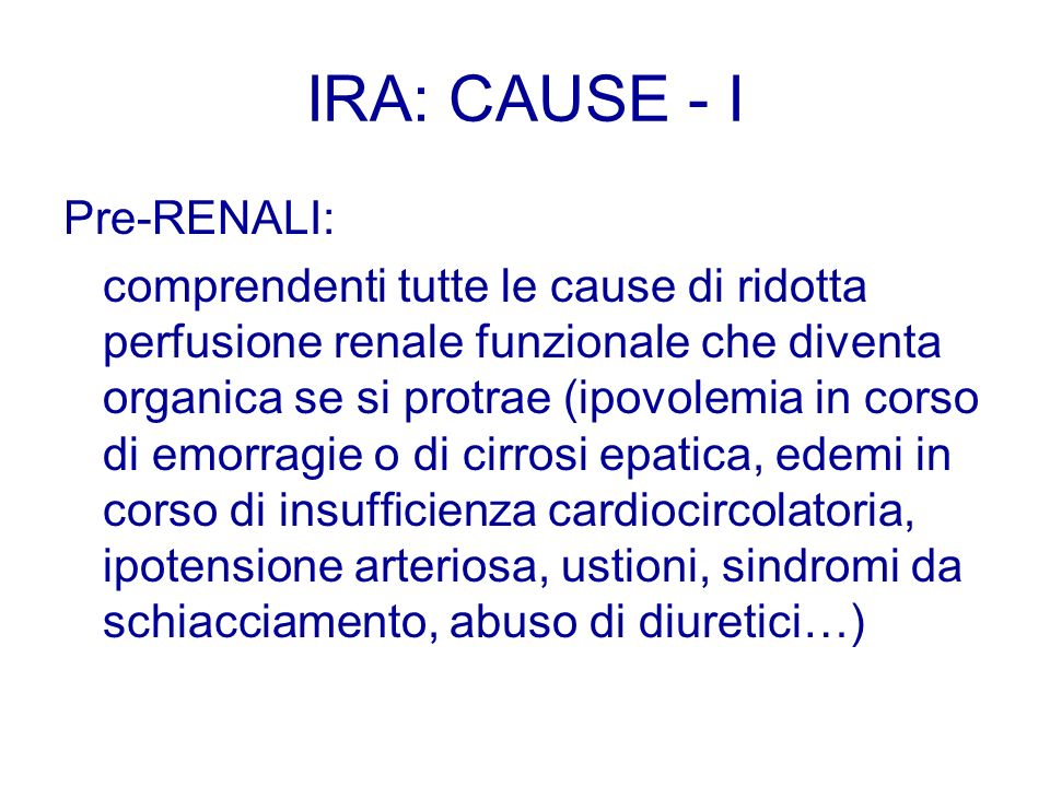 IRA: CAUSE - I