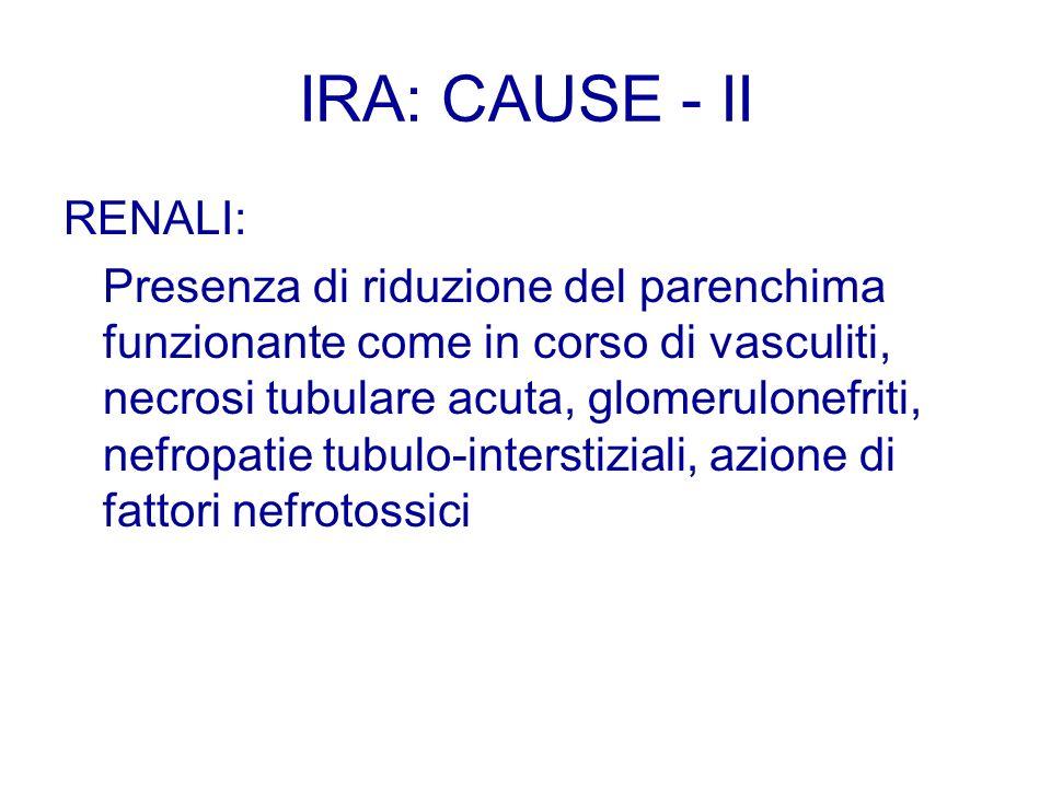 IRA: CAUSE - II