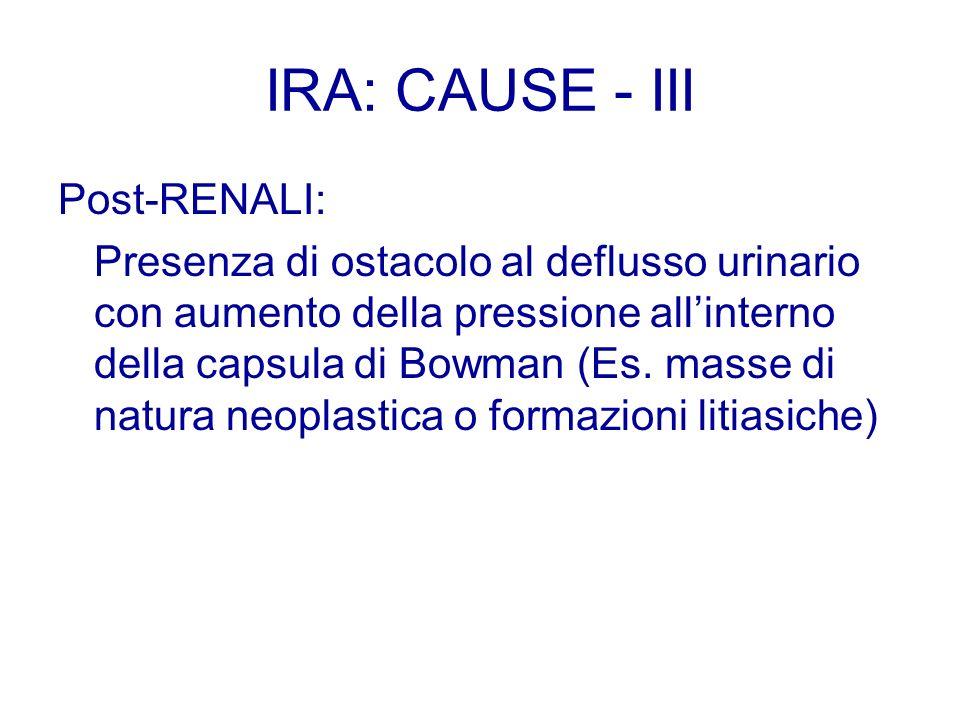 IRA: CAUSE - III