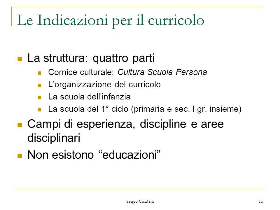 Le Indicazioni per il curricolo
