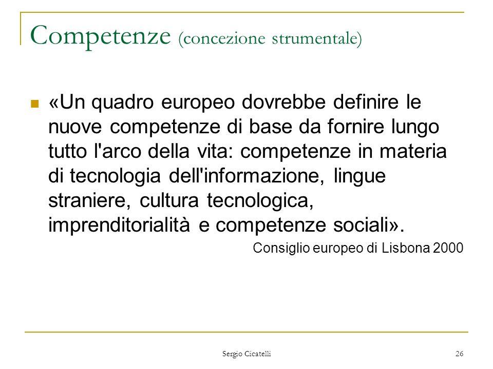 Competenze (concezione strumentale)