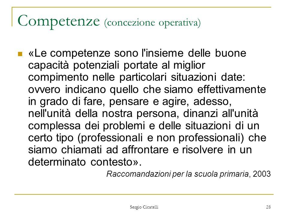 Competenze (concezione operativa)