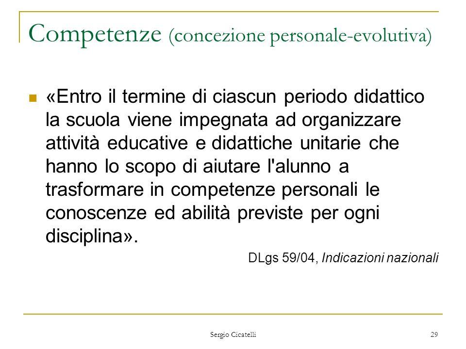 Competenze (concezione personale-evolutiva)