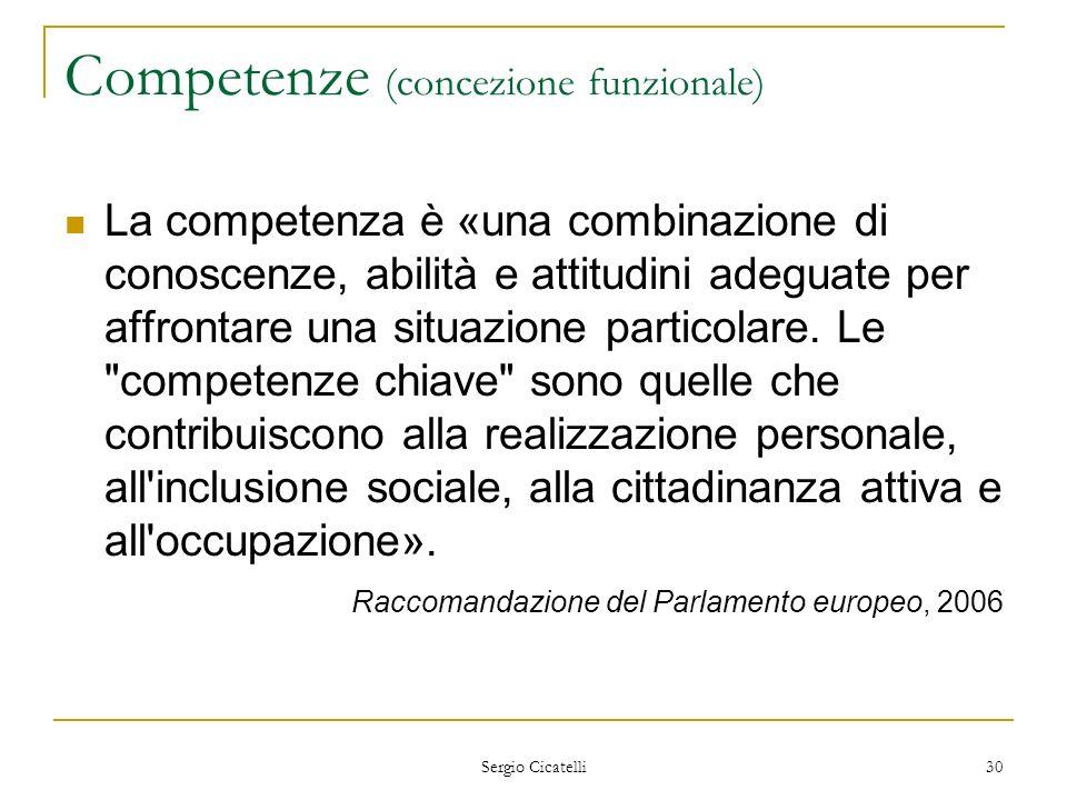 Competenze (concezione funzionale)