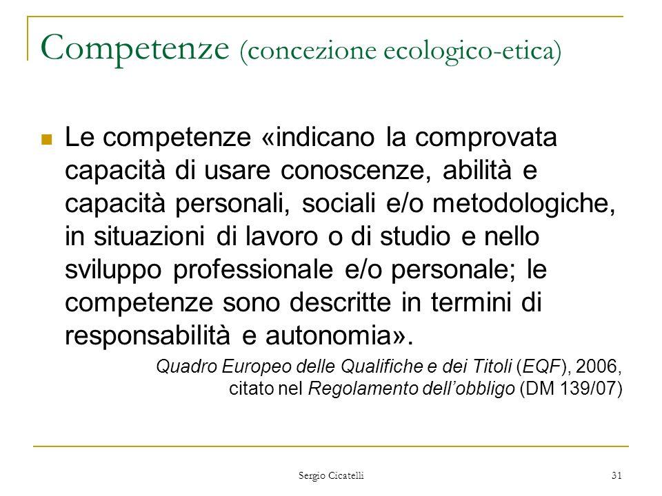Competenze (concezione ecologico-etica)