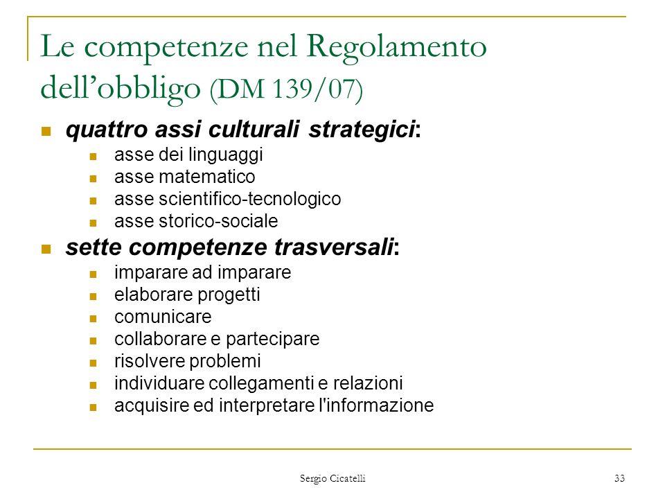 Le competenze nel Regolamento dell'obbligo (DM 139/07)