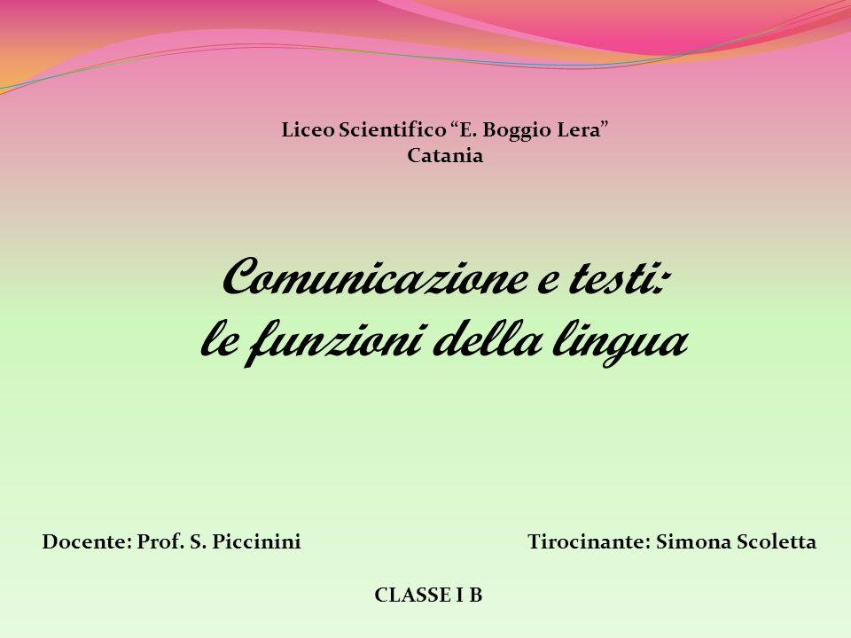 Comunicazione e testi: le funzioni della lingua