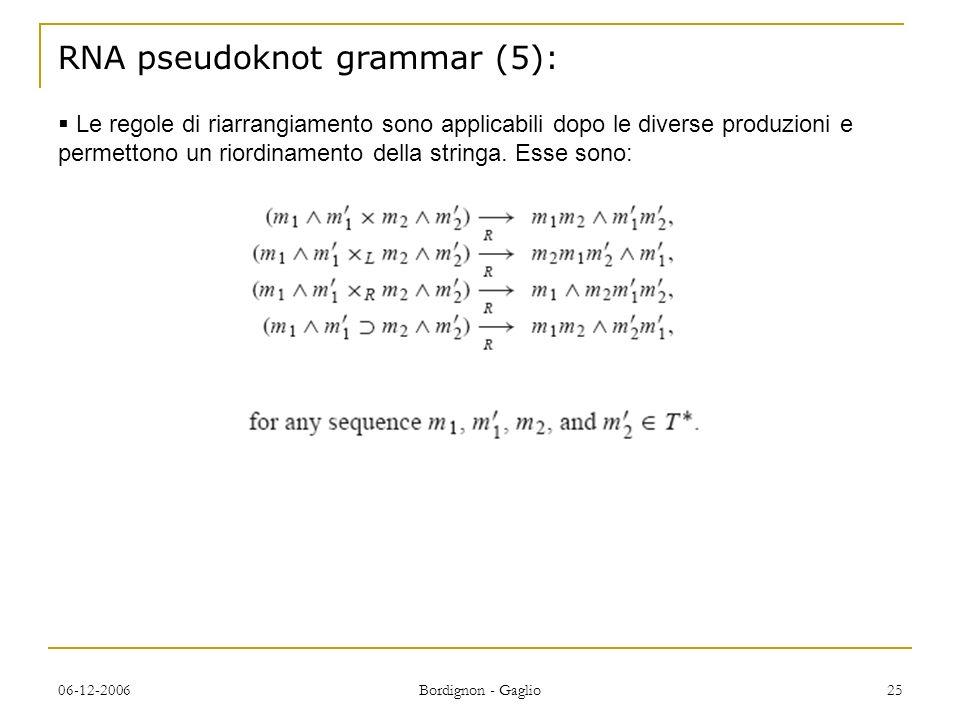 RNA pseudoknot grammar (5):