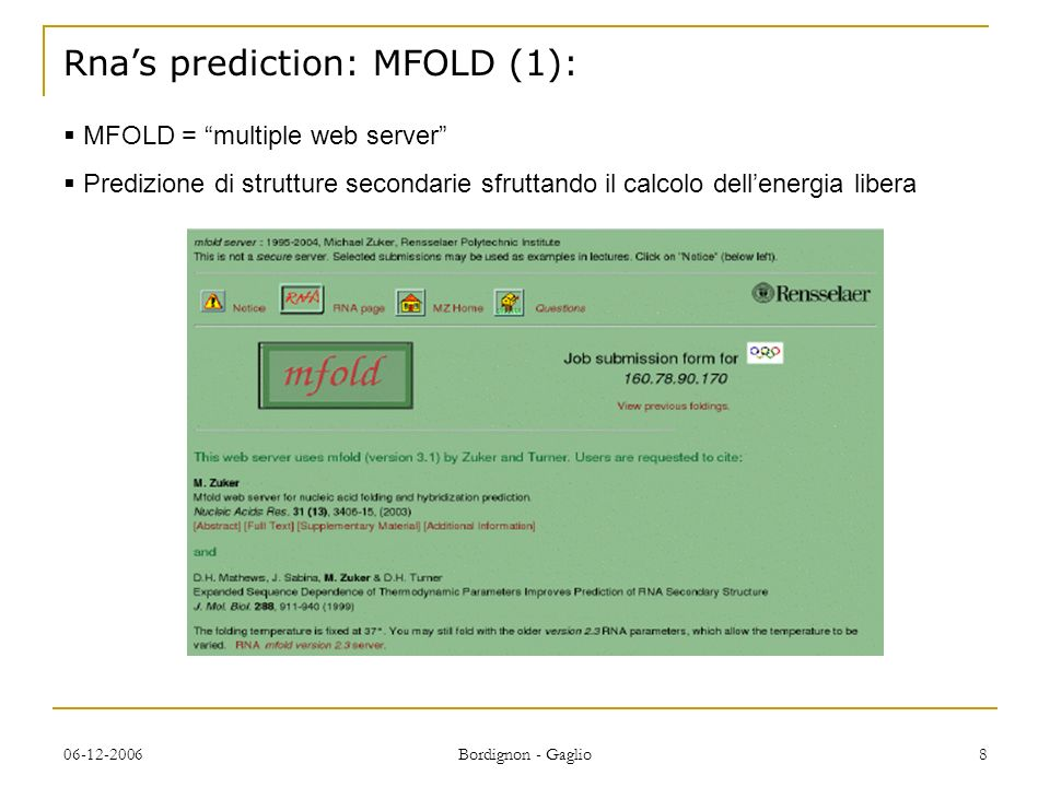 Rna's prediction: MFOLD (1):
