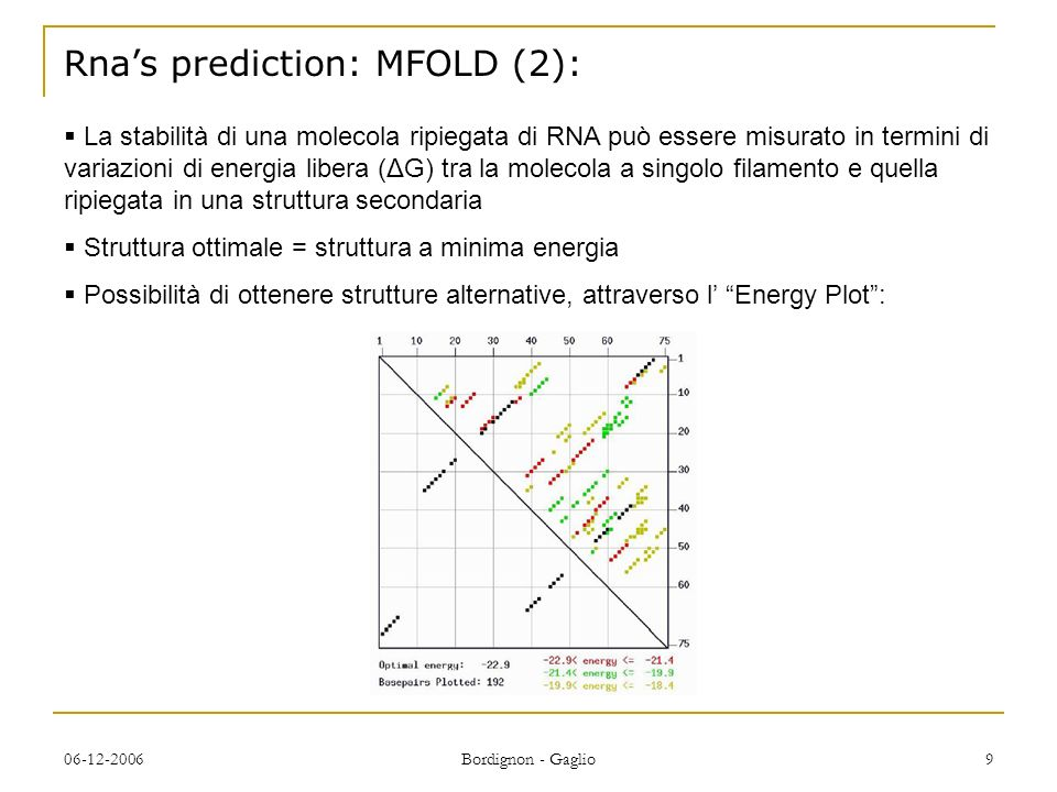 Rna's prediction: MFOLD (2):