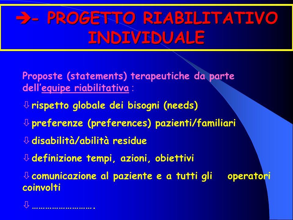 - PROGETTO RIABILITATIVO INDIVIDUALE
