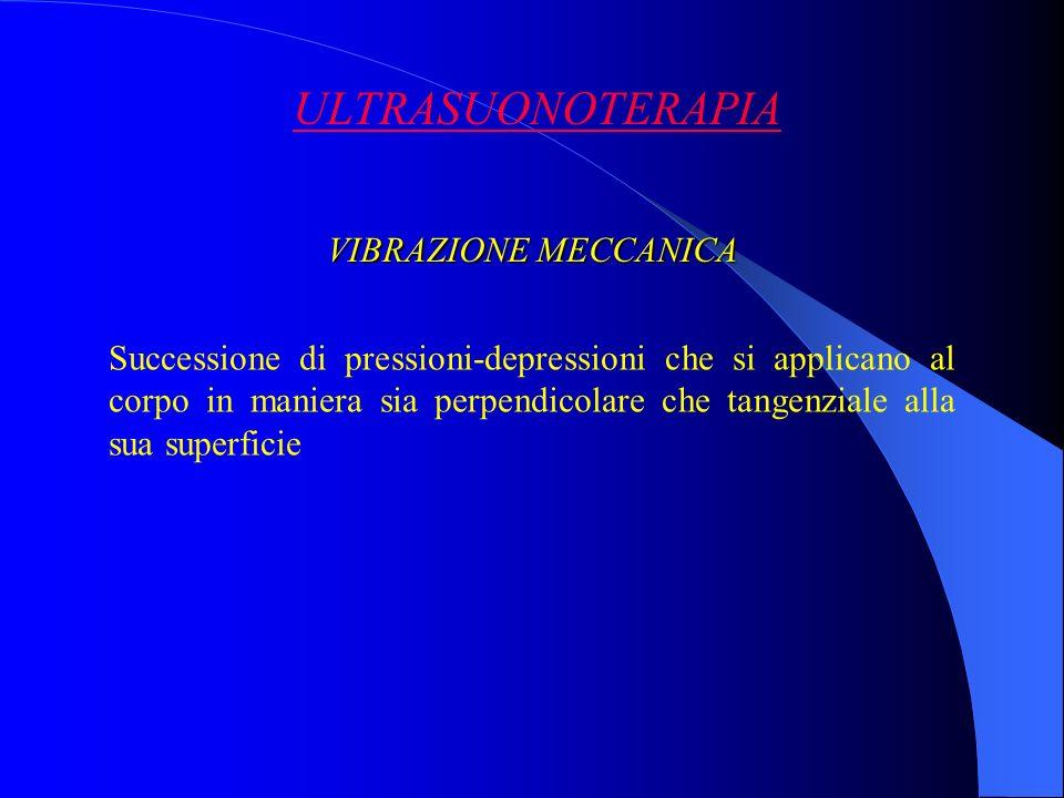 ULTRASUONOTERAPIA VIBRAZIONE MECCANICA
