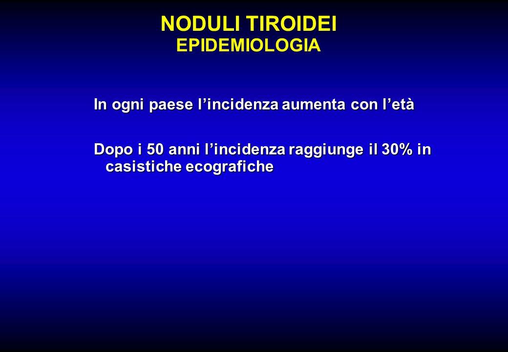 NODULI TIROIDEI EPIDEMIOLOGIA
