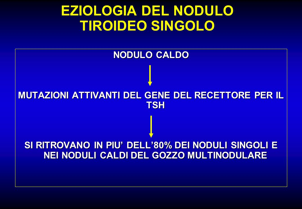 EZIOLOGIA DEL NODULO TIROIDEO SINGOLO