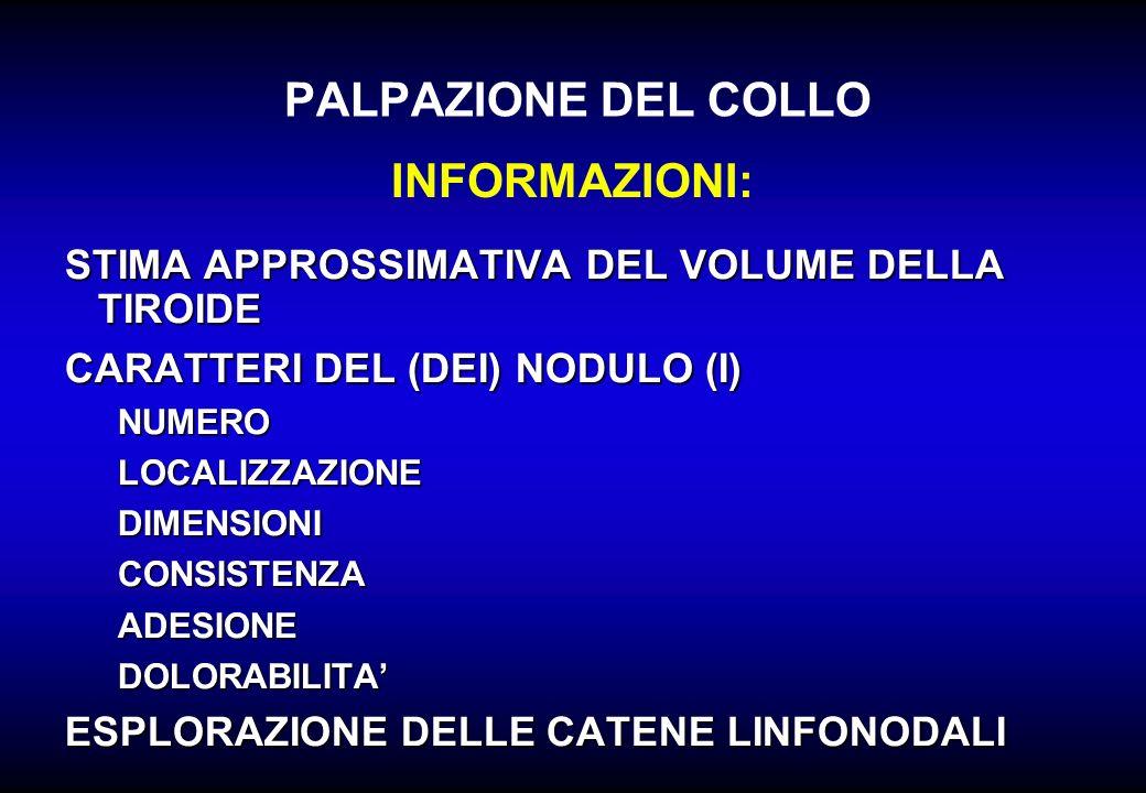 PALPAZIONE DEL COLLO INFORMAZIONI: