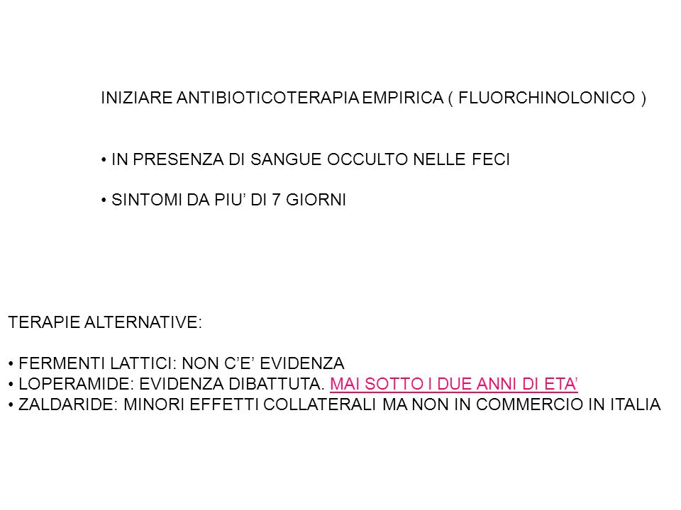 INIZIARE ANTIBIOTICOTERAPIA EMPIRICA ( FLUORCHINOLONICO )