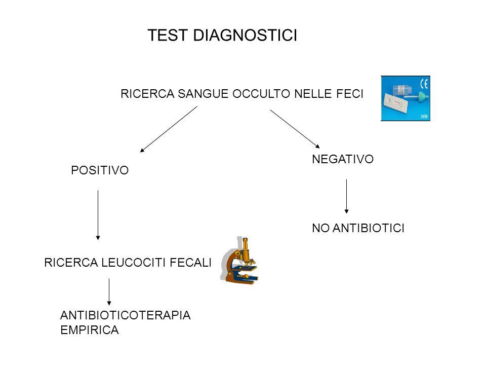 TEST DIAGNOSTICI RICERCA SANGUE OCCULTO NELLE FECI NEGATIVO POSITIVO