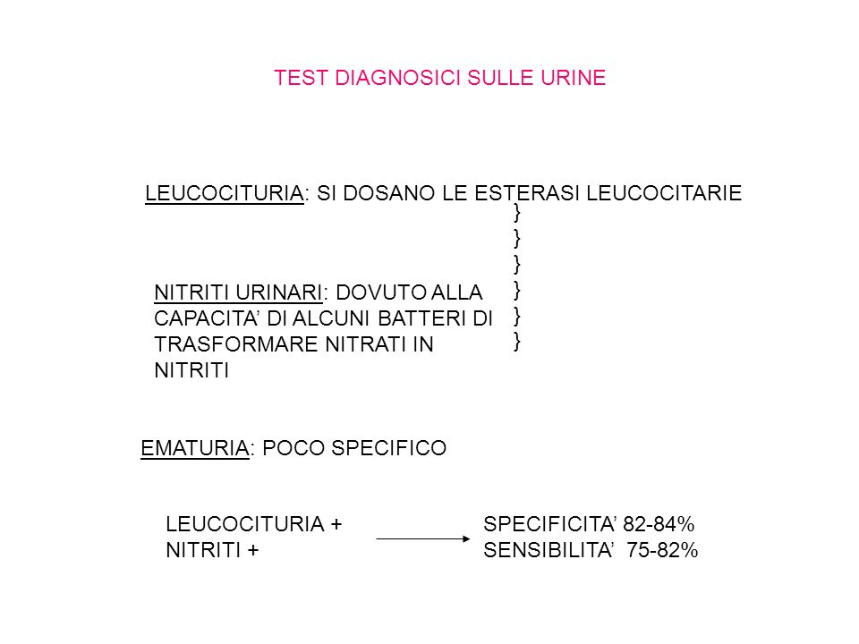 TEST DIAGNOSICI SULLE URINE