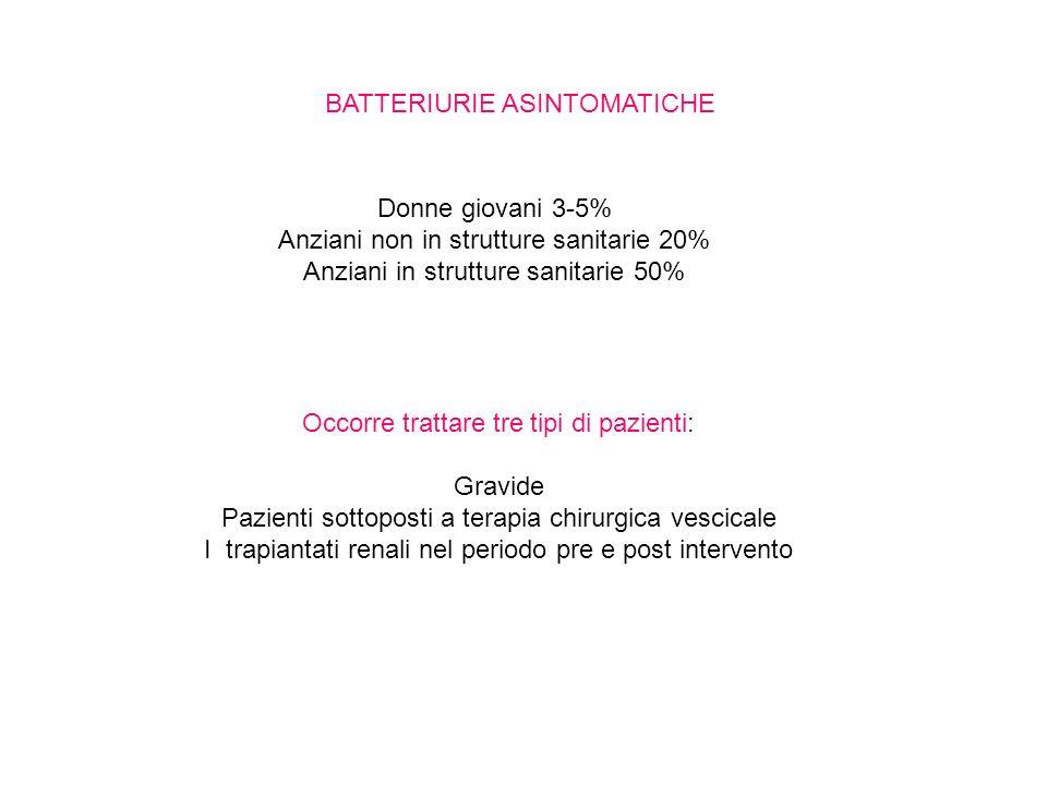 BATTERIURIE ASINTOMATICHE