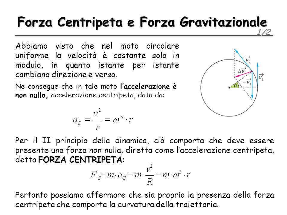 Forza Centripeta e Forza Gravitazionale