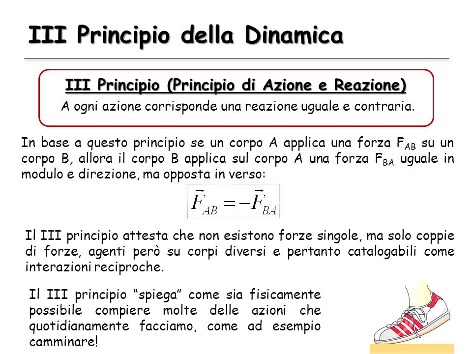 III Principio della Dinamica