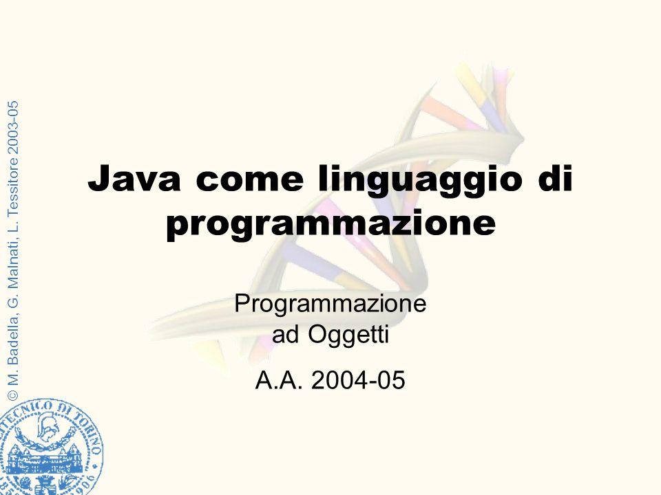 Java come linguaggio di programmazione
