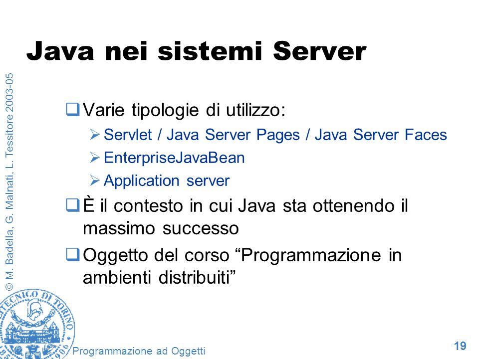 Java nei sistemi Server
