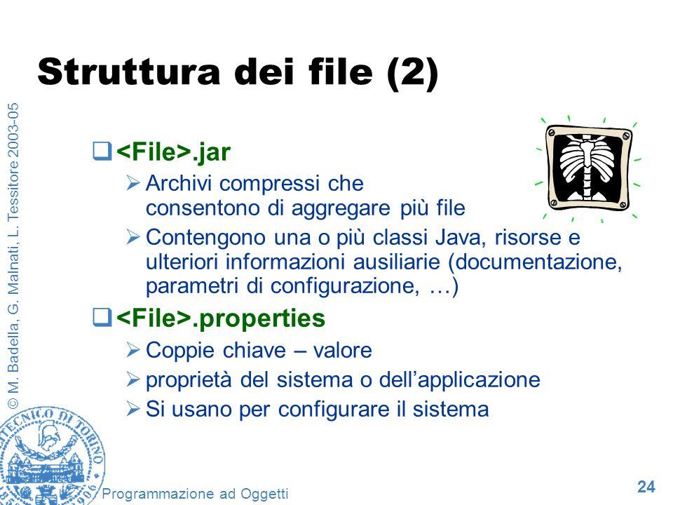 Struttura dei file (2) <File>.jar <File>.properties