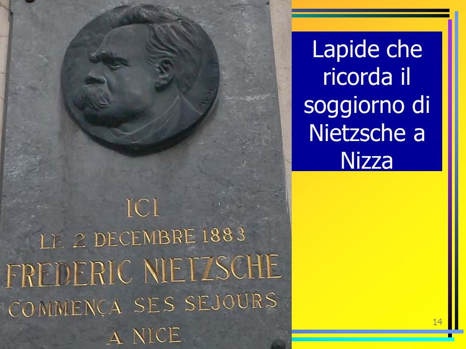 Lapide che ricorda il soggiorno di Nietzsche a Nizza
