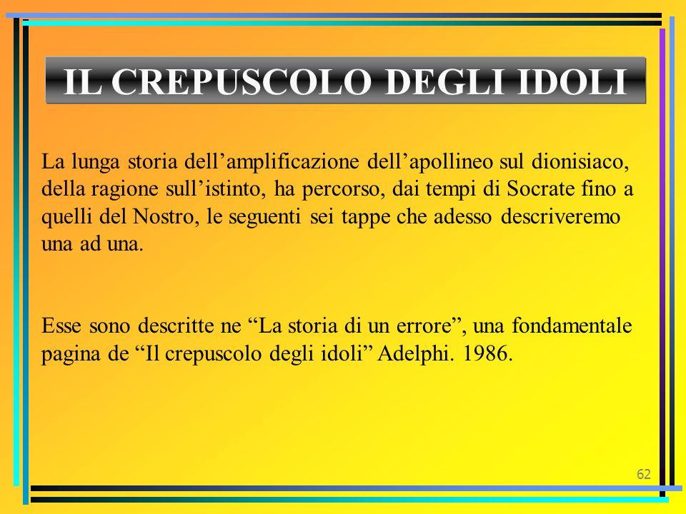 IL CREPUSCOLO DEGLI IDOLI
