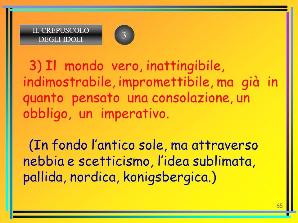 IL CREPUSCOLO DEGLI IDOLI. 3.
