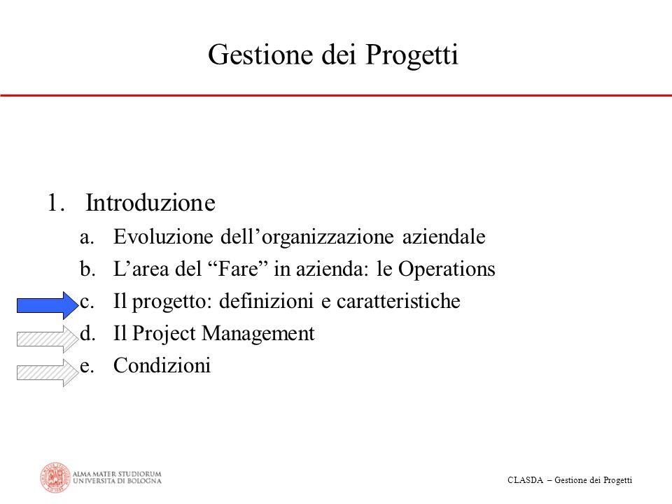 Gestione dei Progetti Introduzione