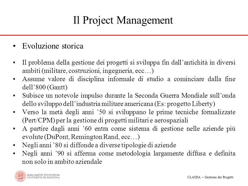 Il Project Management Evoluzione storica