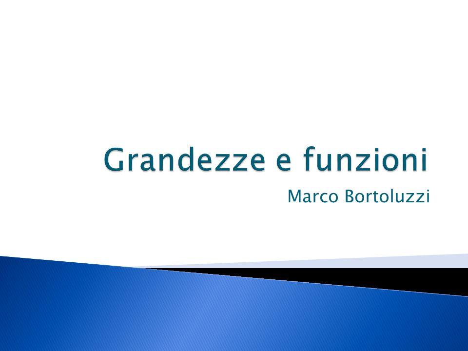 Grandezze e funzioni Marco Bortoluzzi
