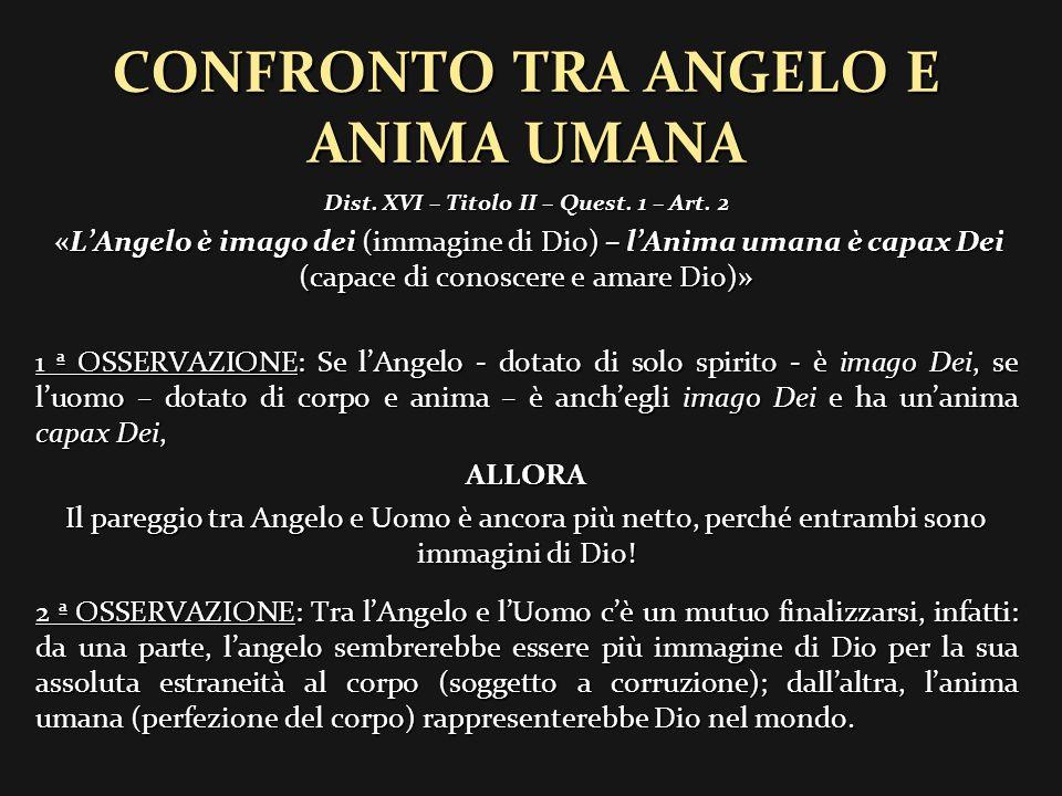 CONFRONTO TRA ANGELO E ANIMA UMANA