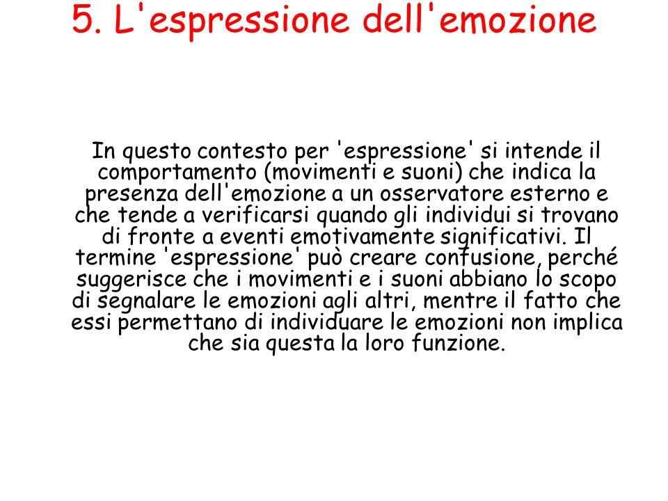 5. L espressione dell emozione