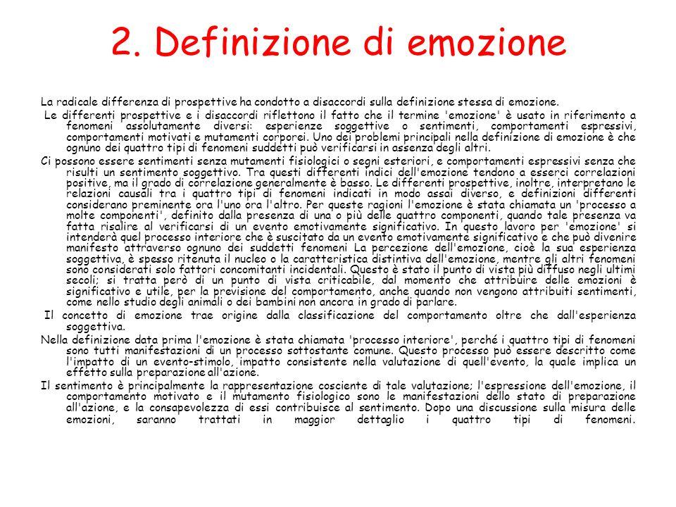 2. Definizione di emozione