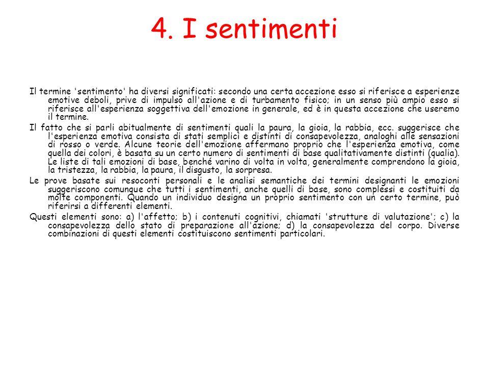 4. I sentimenti