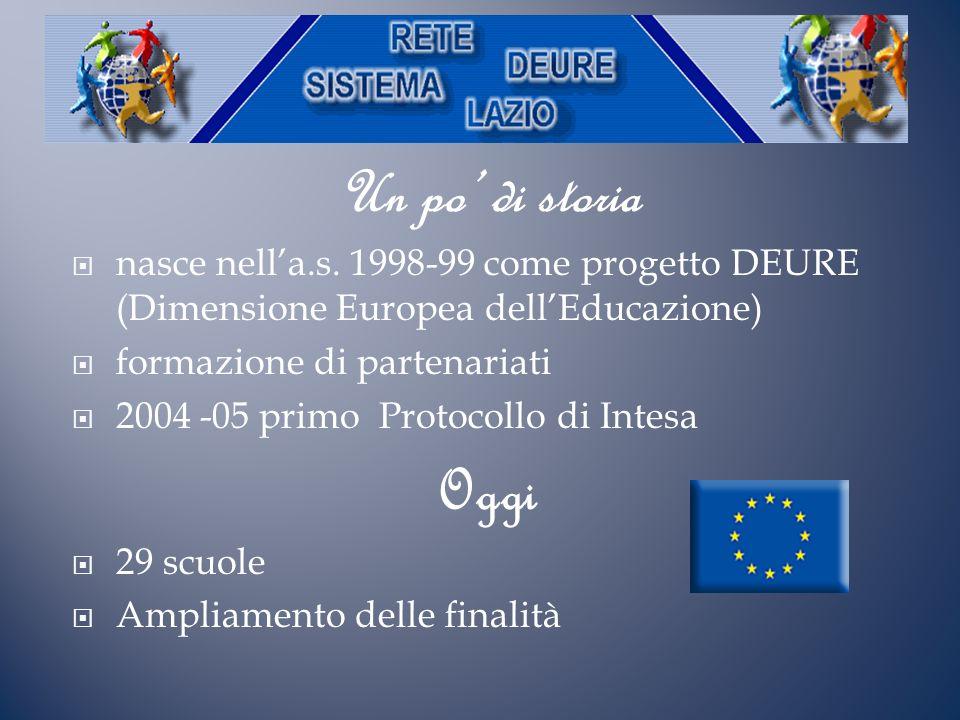 Un po' di storia nasce nell'a.s. 1998-99 come progetto DEURE (Dimensione Europea dell'Educazione) formazione di partenariati.