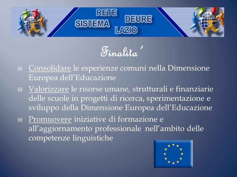 Finalita' Consolidare le esperienze comuni nella Dimensione Europea dell'Educazione.