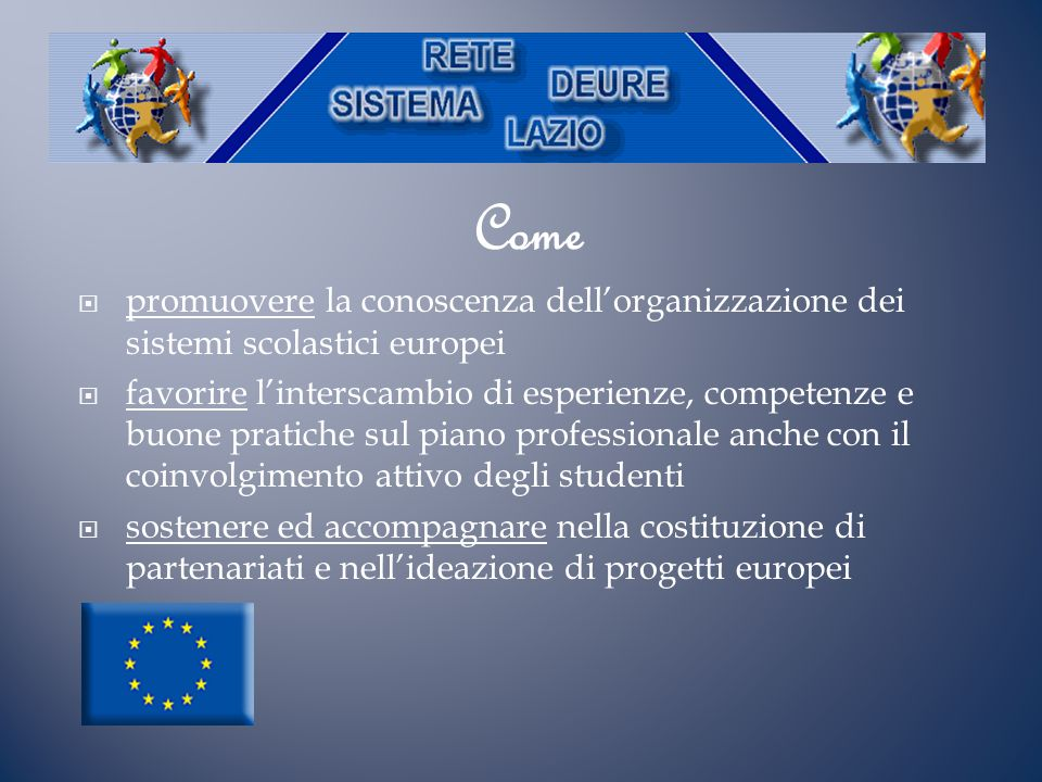 Come promuovere la conoscenza dell'organizzazione dei sistemi scolastici europei.