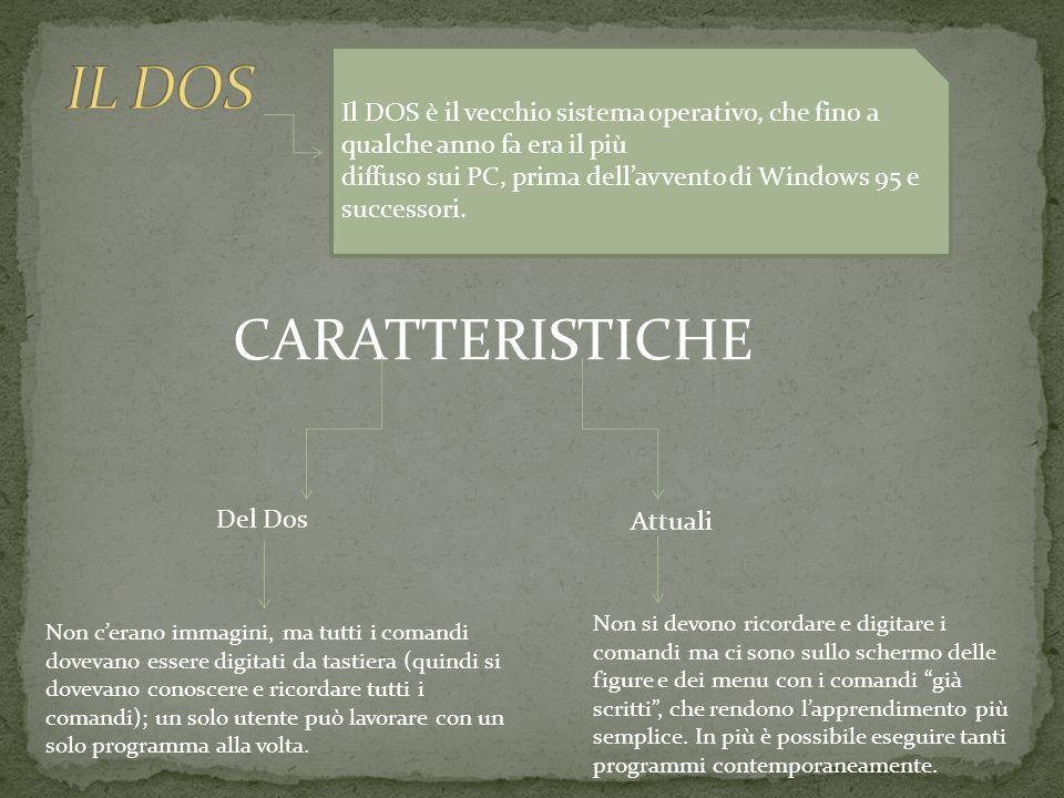 IL DOS CARATTERISTICHE