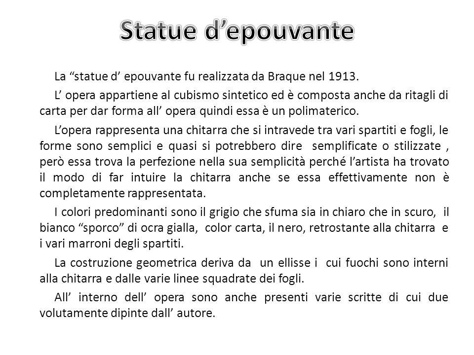 Statue d'epouvante
