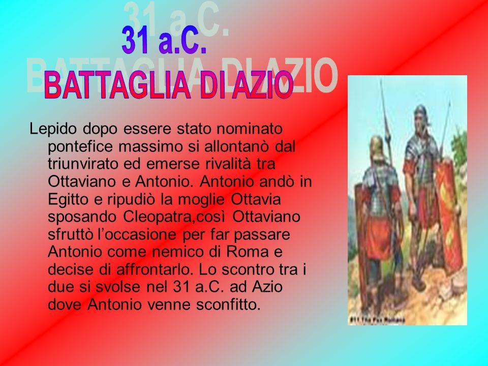 31 a.C. BATTAGLIA DI AZIO.
